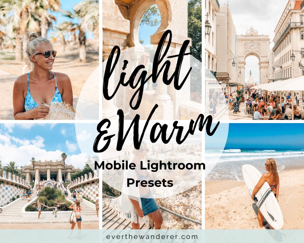 Light & Warm Mobile Lightroom Presets