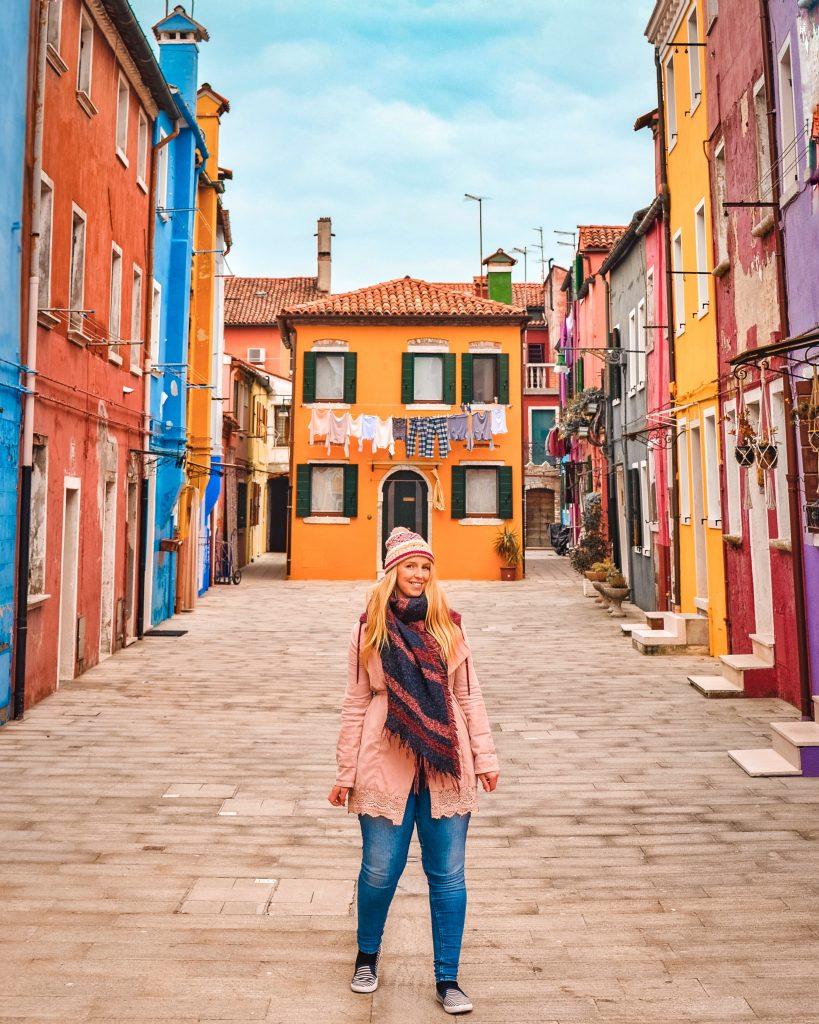 Burano Orange House in Venice Italy