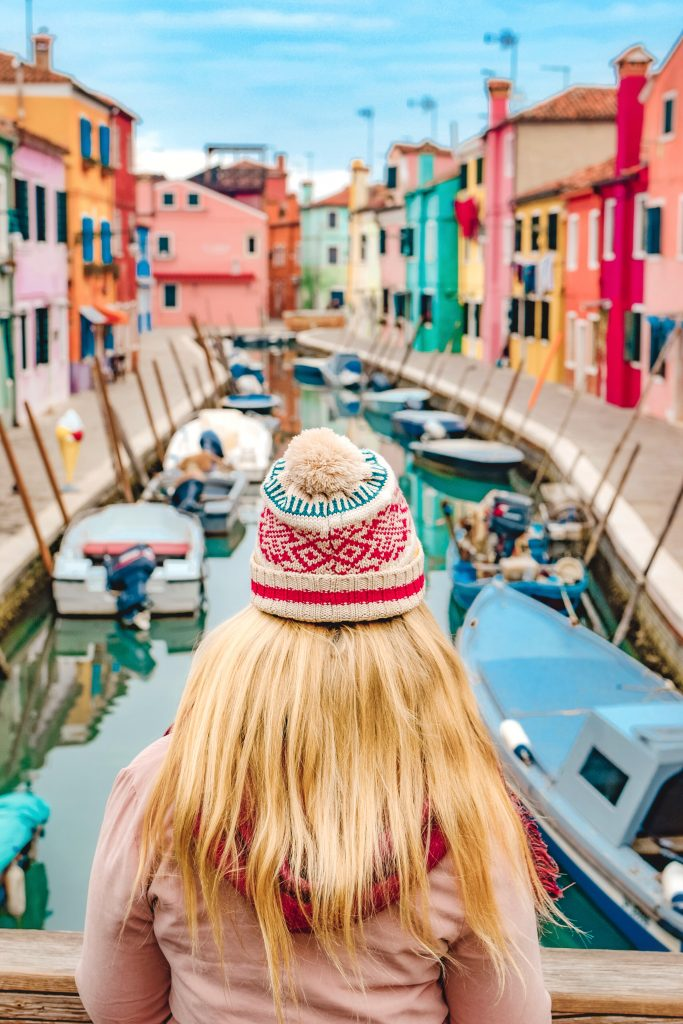 Burano Views in Venice Italy