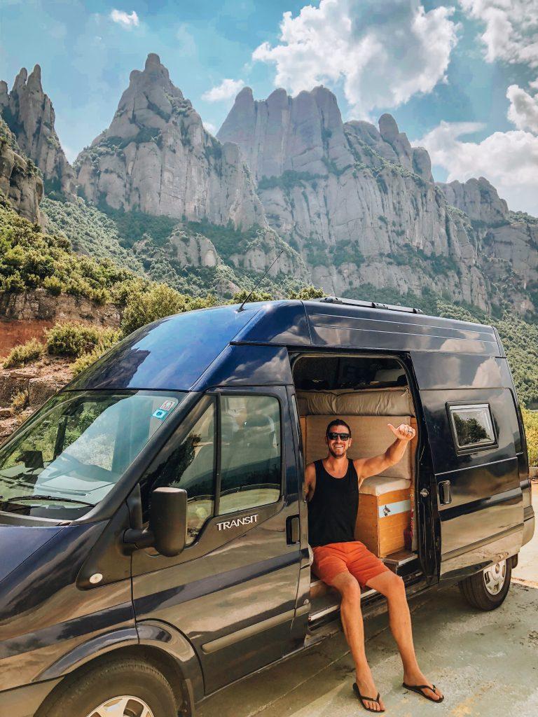 Campervan in Montserrat Spain