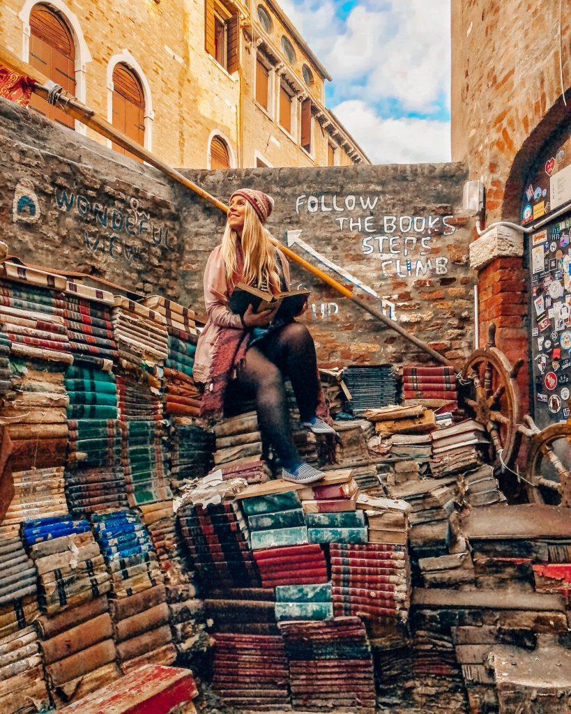 Libreria Acqua Alta in Venice Italy
