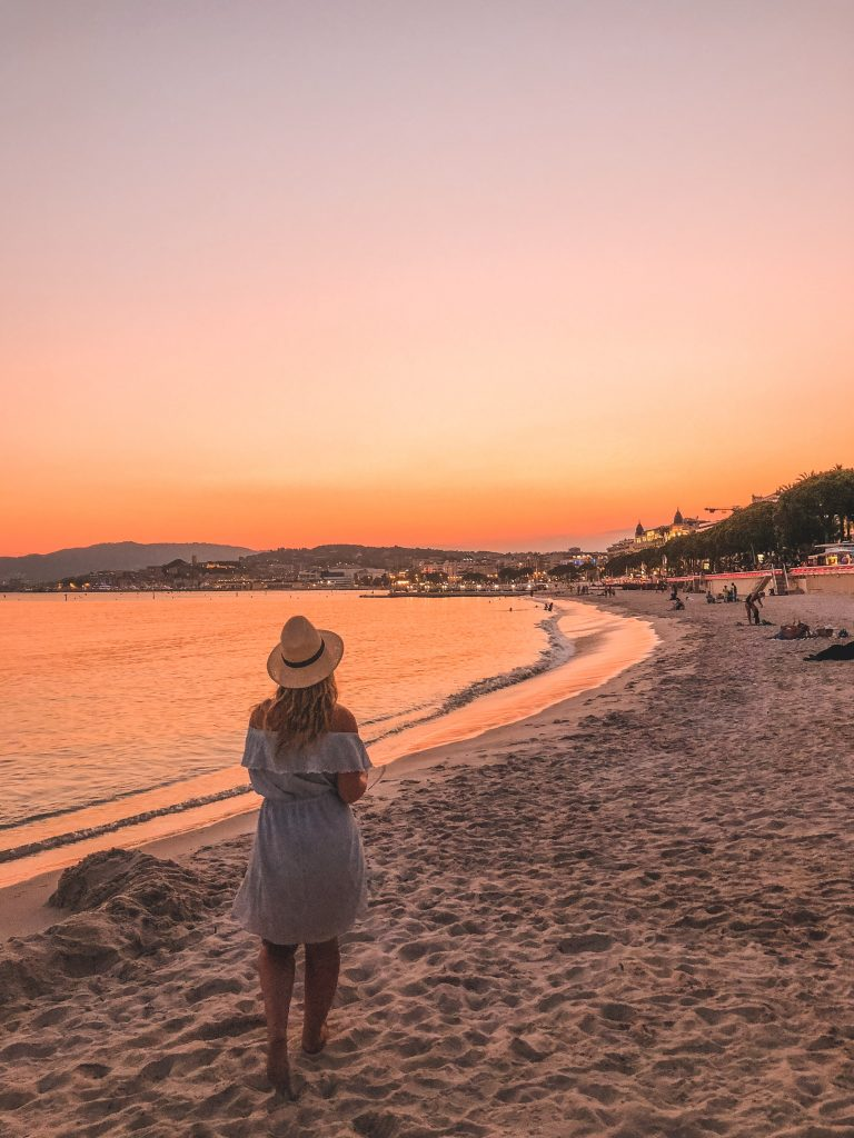 Cannes Walking Sunset