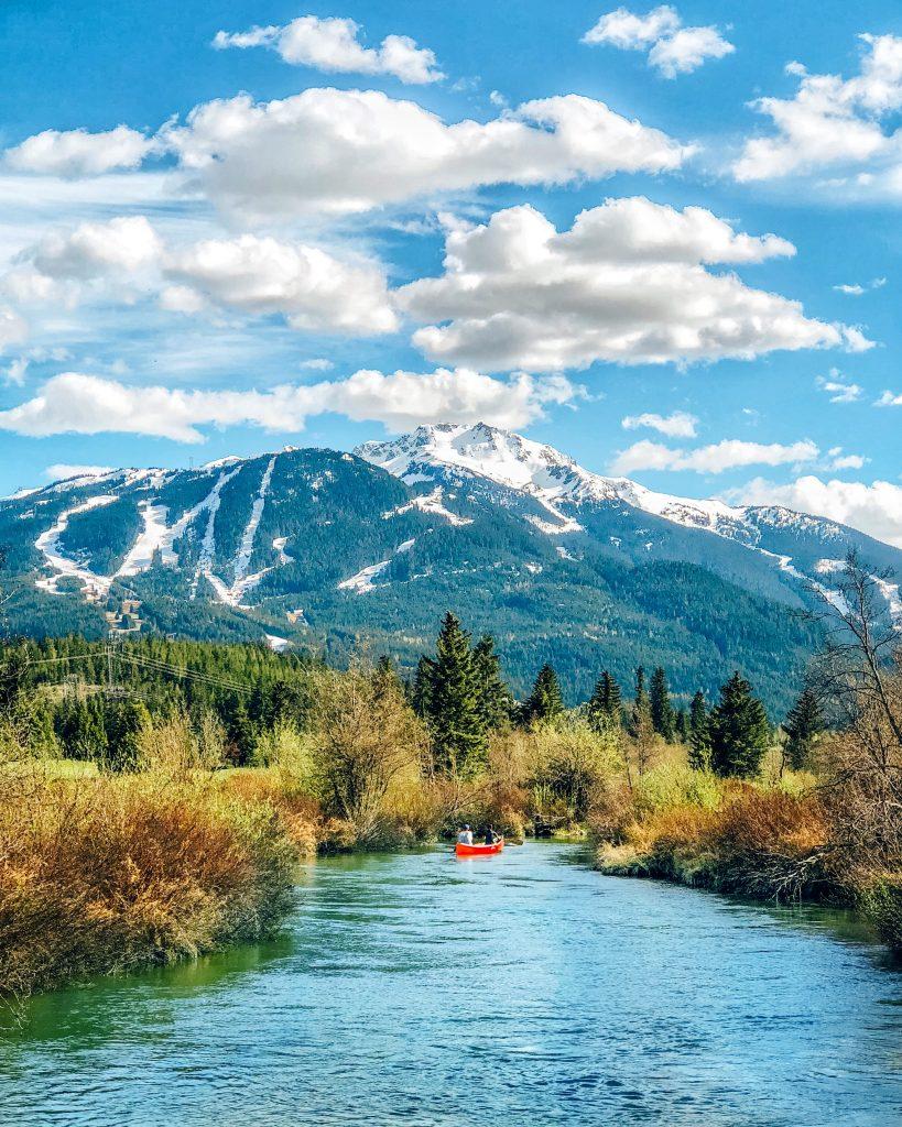 Canoe along the River of Golden Dreams Whistler