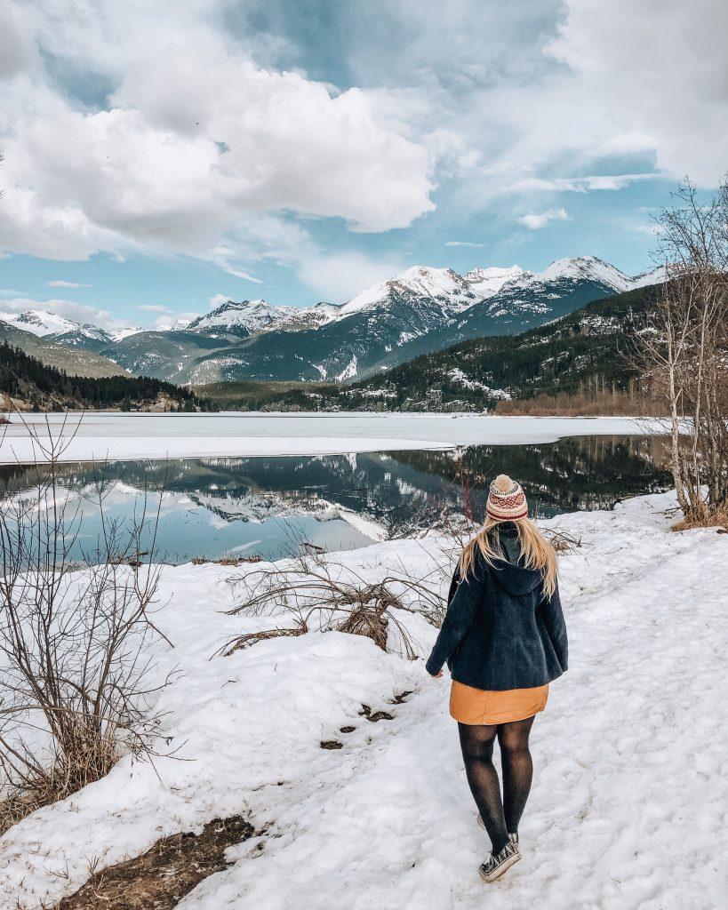 Winter at Green Lake Whistler