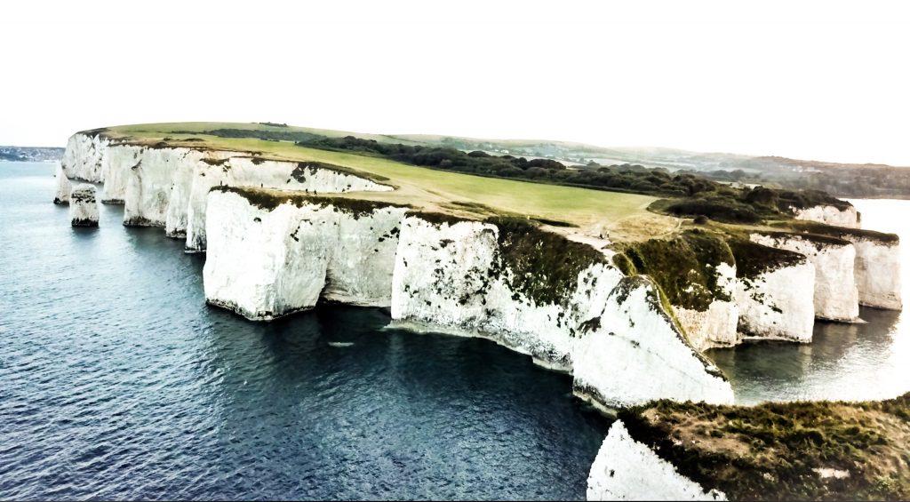 Old Harry Rocks Drone Photo, Dorset